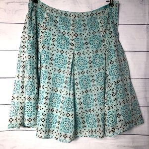 Jones NY Teal Floral Pleated Skirt - 22W